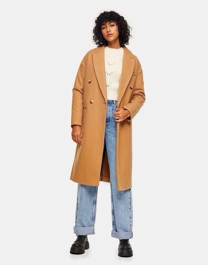 Παλτό με σταυρωτό κούμπωμα
