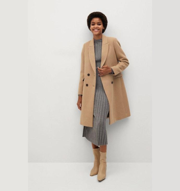 Μάλλινο παλτό σταυρωτό
