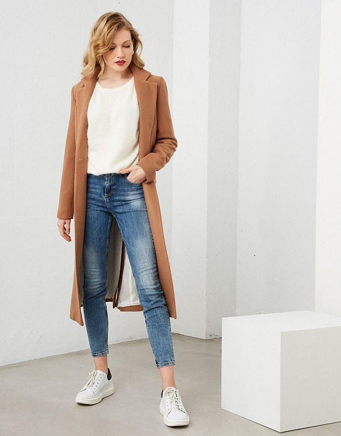 Παλτό με ένα κουμπί