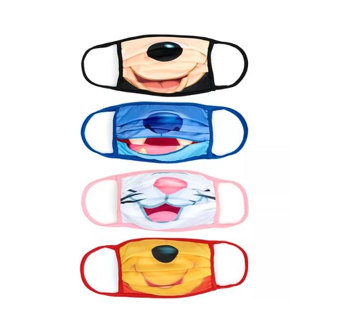 Παιδικές μάσκες με τύπωμα, σετ 4