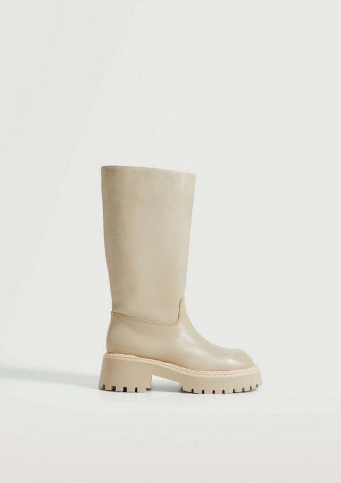 Δερμάτινη μπότα με τρακτερωτή σόλα