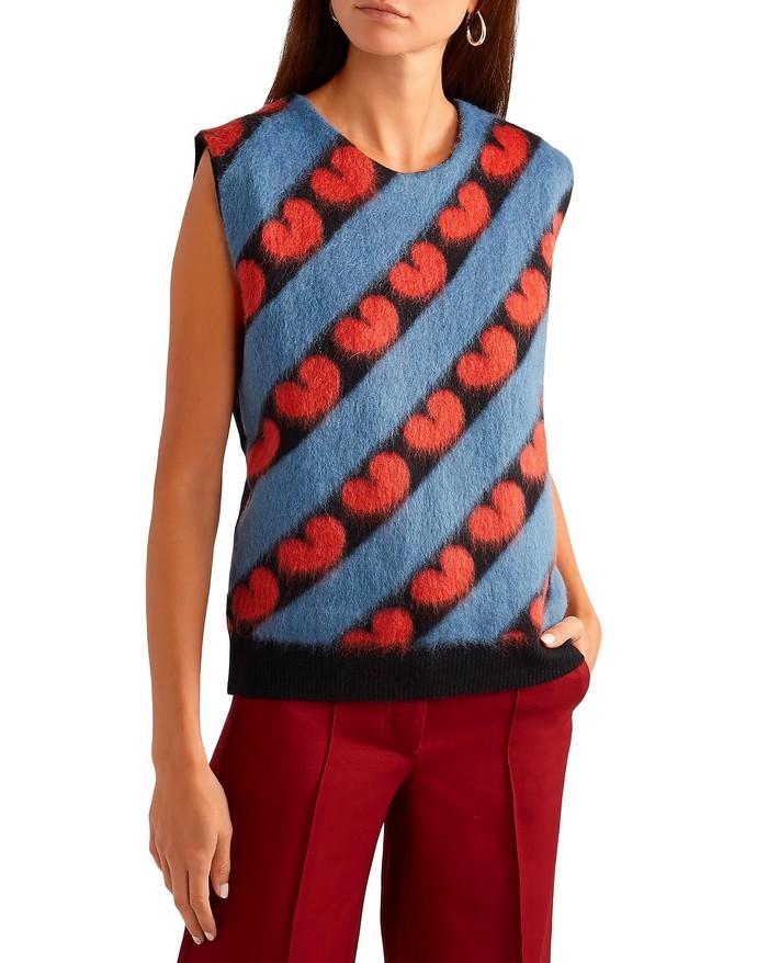 Aμάνικο πουλόβερ με print