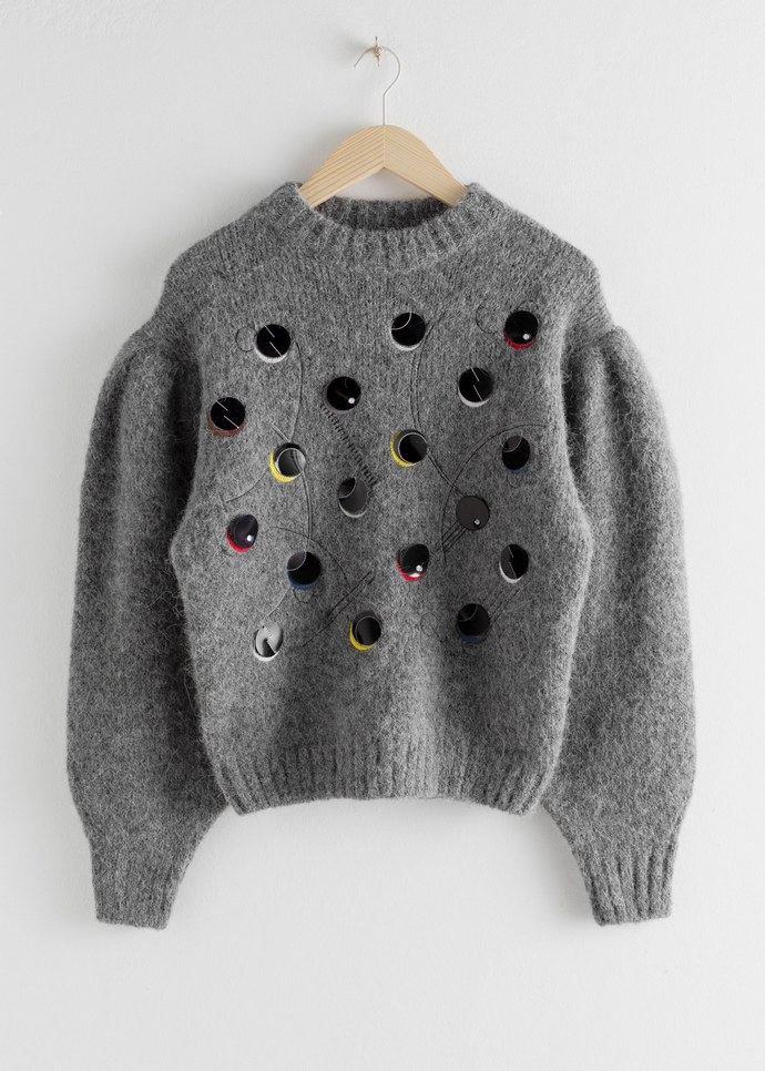 Μάλλινο πουλόβερ με παγιέτες