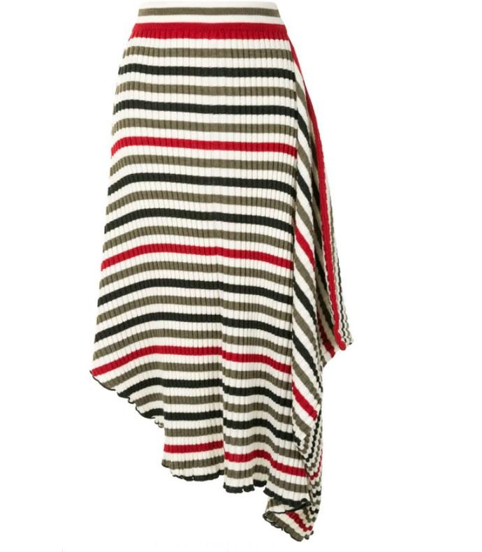 Ασύμμετρη πλεκτή φούστα