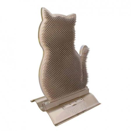 Βούρτσα γάτας ειδικά σχεδιασμένη για να στηρίζεται στις πόρτες του σπιτιού