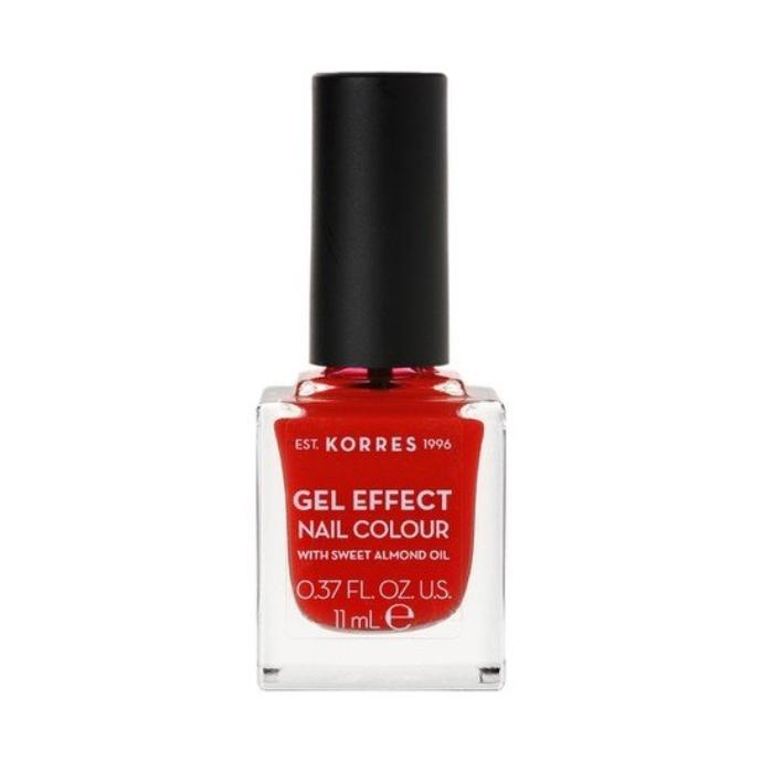 βερνίκι νυχιών Korres Gel Effect Nail Colour Βερνίκι Νυχιών 48 Coral Red