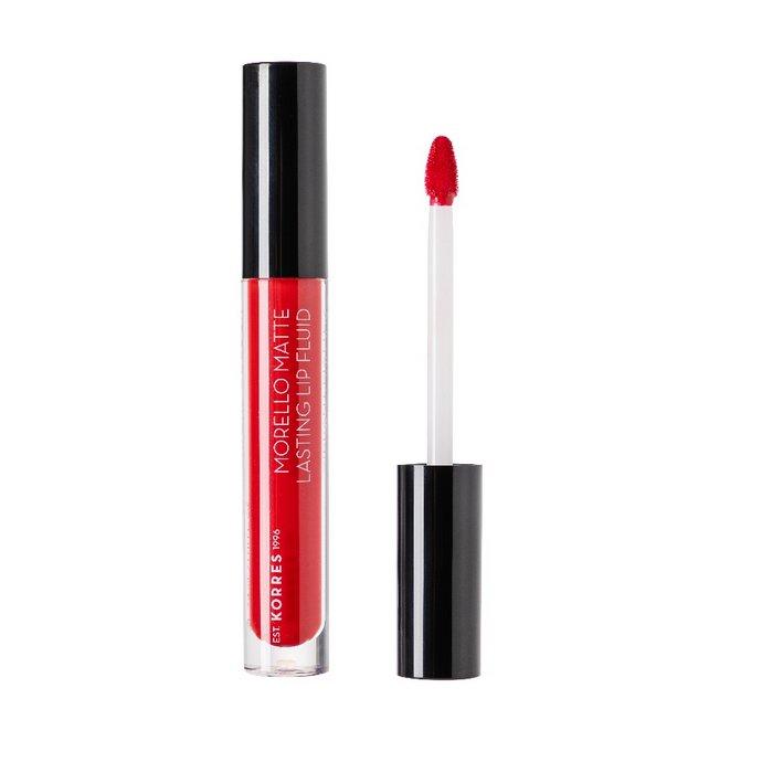 Korres Morello Matte Lasting Lip Fluid στην απόχρωση 53 Red Velvet