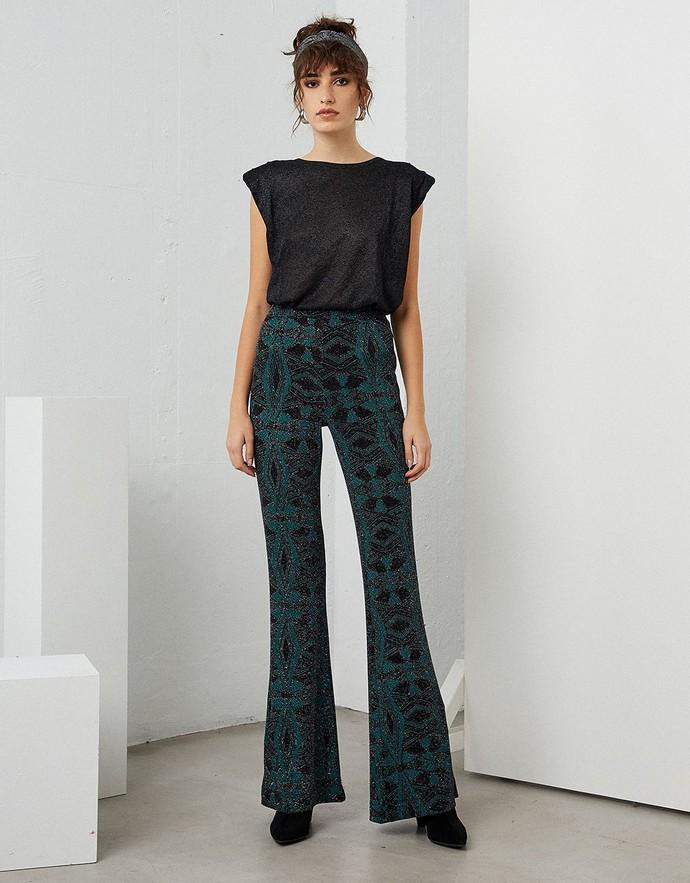 Printed παντελόνα