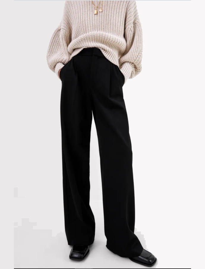 Wide-leg παντελόνι