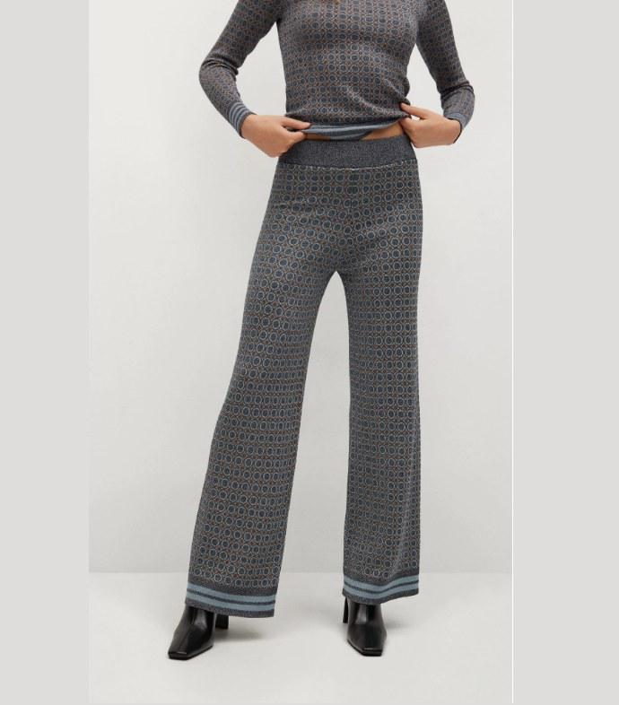 Παντελόνα με γεωμετρικό τύπωμα