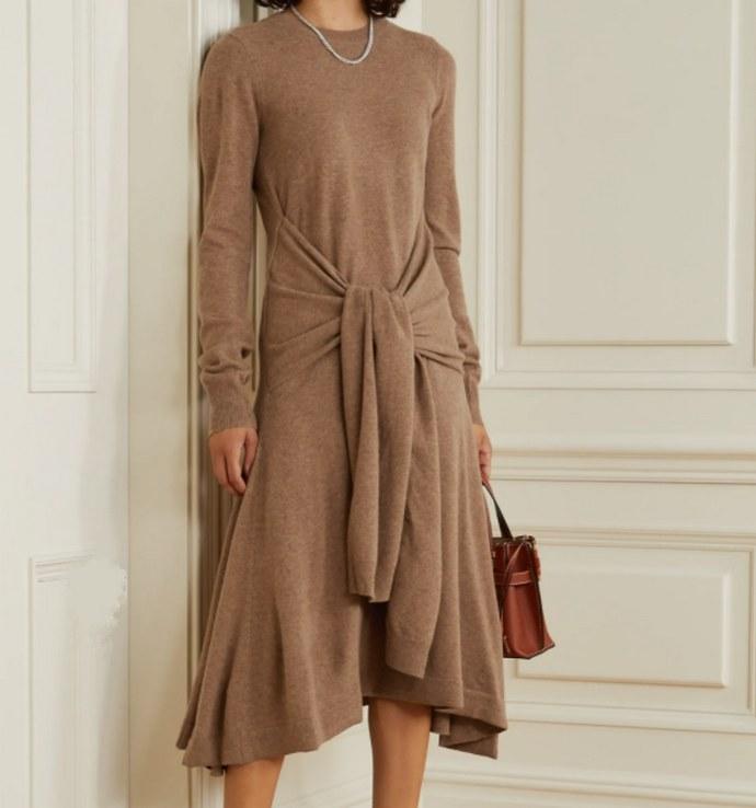 Μίντι πλεκτό φόρεμα