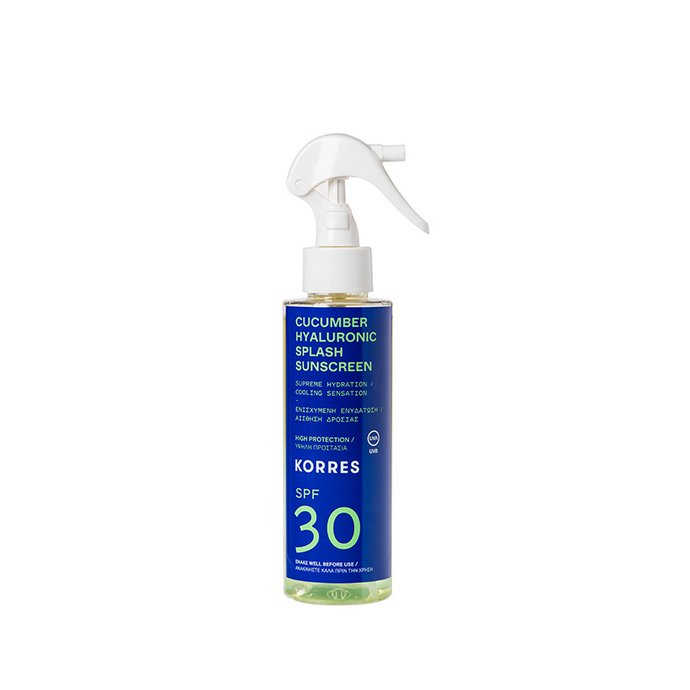 Korres Cucumber Hyaluronic Splash Sunscreen Spray SPF 30