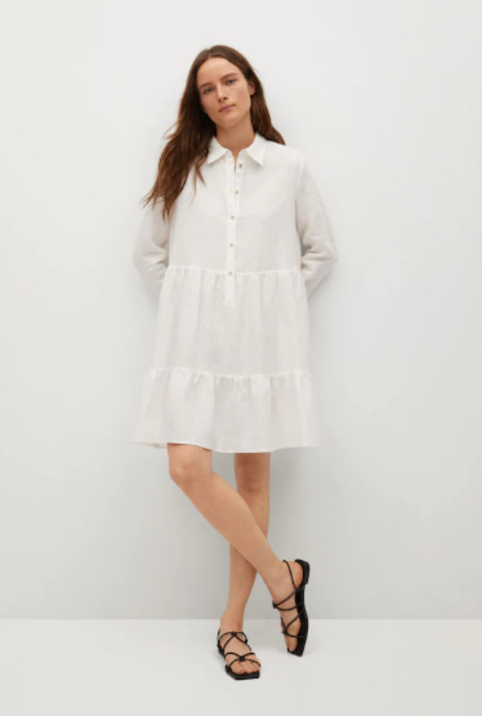 φόρεμα πουκάμισο 100% λινό