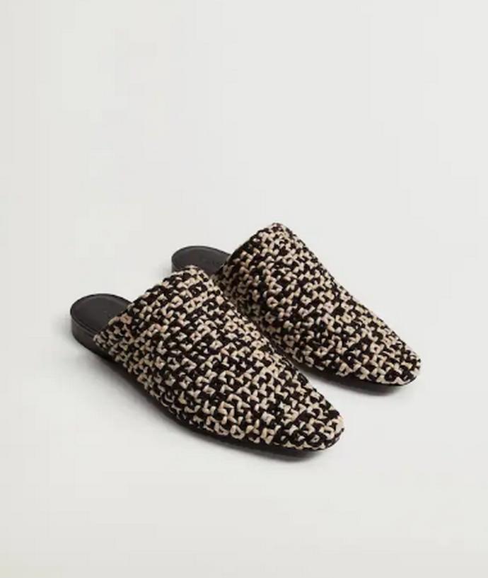 Παπούτσι mule με πλεγμένο σχέδιο