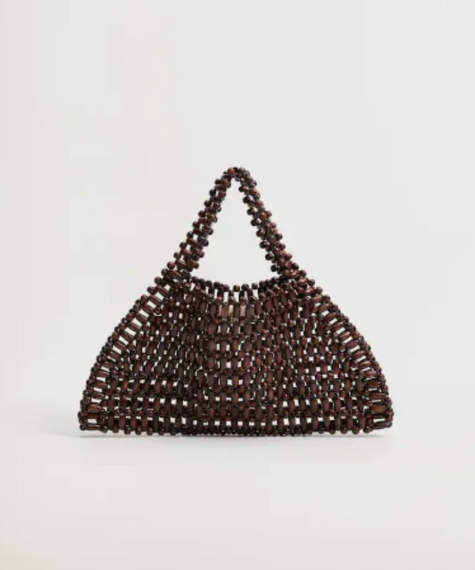 Τσάντα με χάντρες και ξύλο