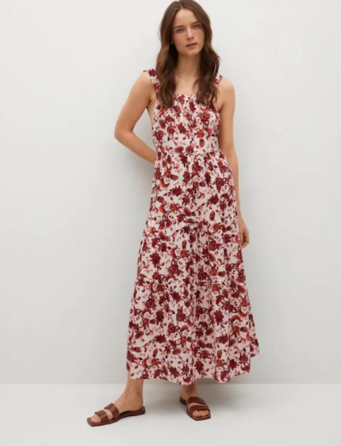 Φόρεμα εμπριμέ με ανοιχτή πλάτη