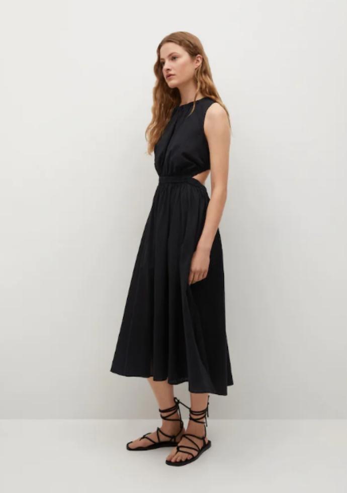 Φόρεμα βαμβακερό με άνοιγμα