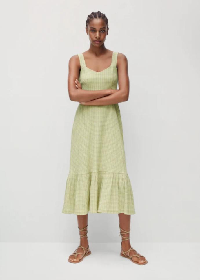 μίντι καρό φόρεμα vichy