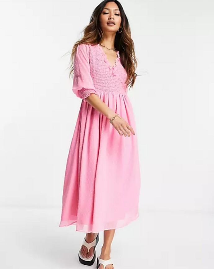 Smock μίντι φόρεμα