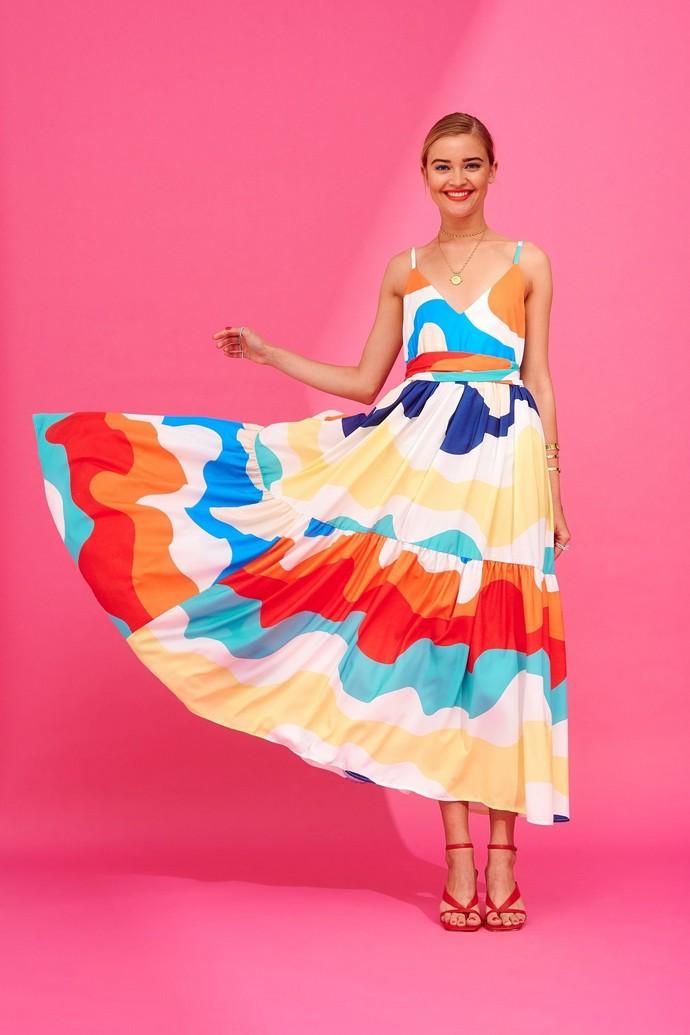 Μάξι φόρεμα σε χαλαρή γραμμή