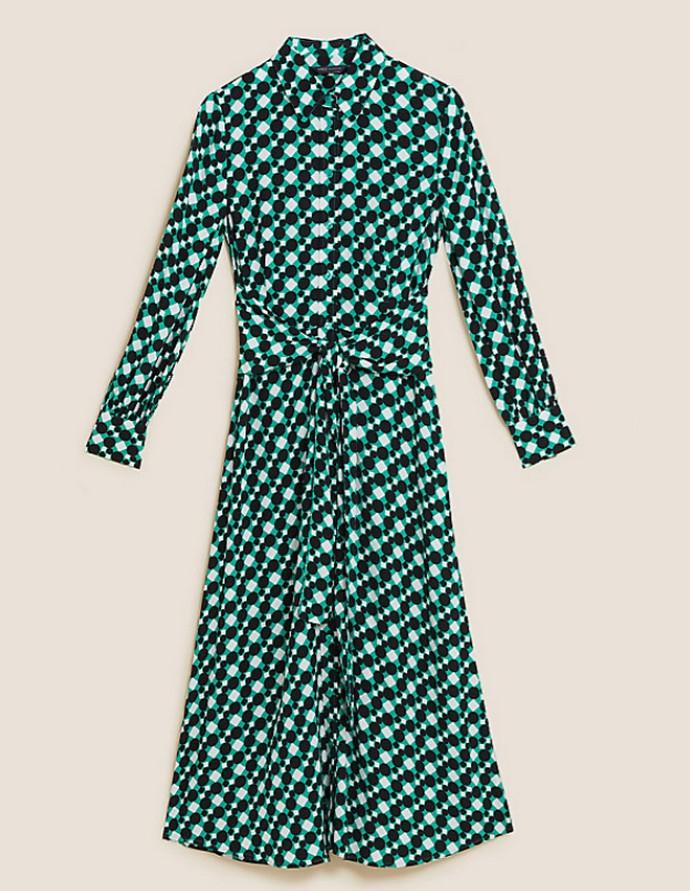 Shirtdress με γεωμετρικό print