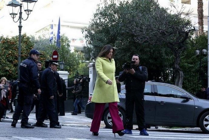 H Zωή Κωνσταντοπούλου στην ορκωμοσία της κυβέρνησης του Σύριζα, το 2015