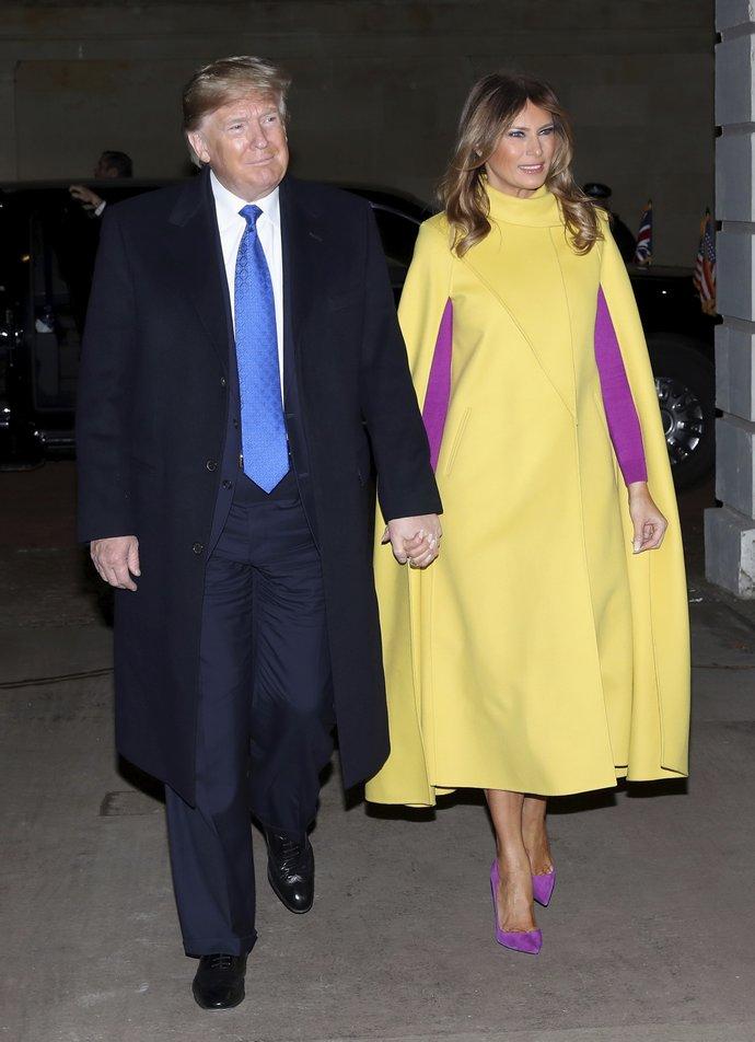 Ο Donald και Melania Trump στο Λονδίνο το 2019