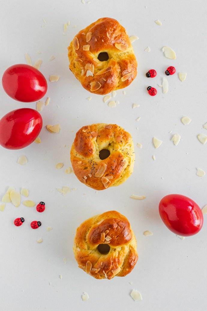 μίνι τσουρέκια donuts