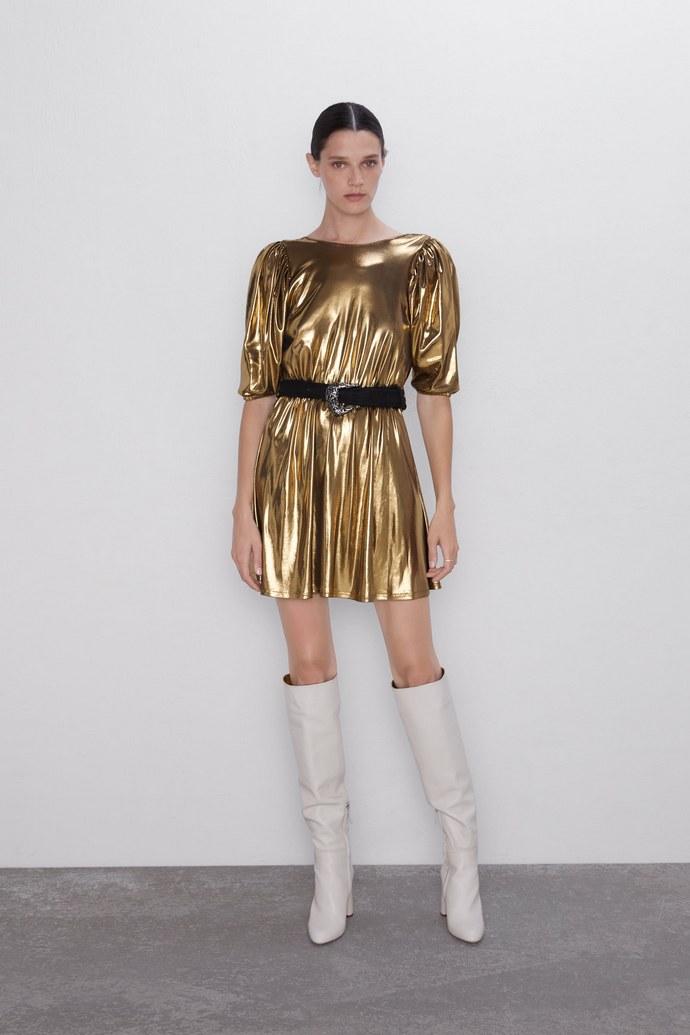 Μίνι φόρεμα μεταλλιζέ