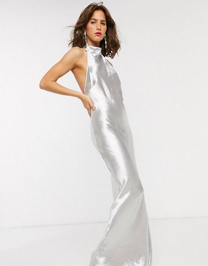 Halter μάξι φόρεμα