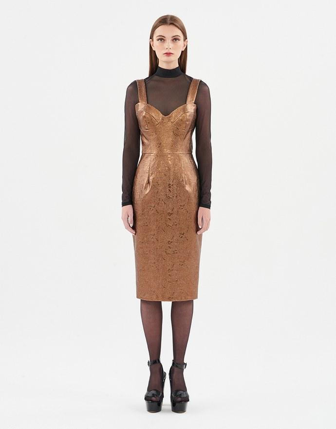 metallic φορέματα