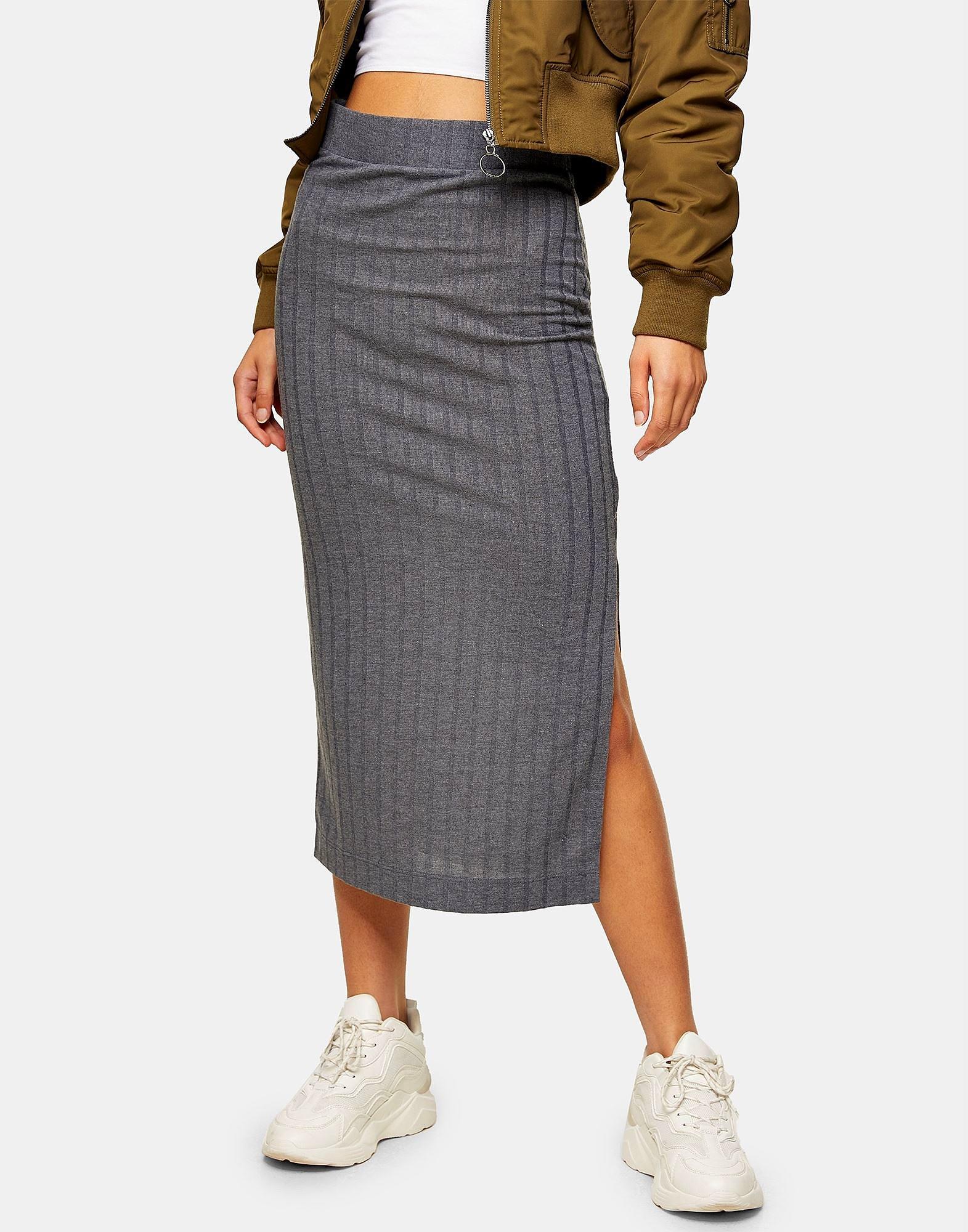 Πλεκτή φούστα με σκίσιμο