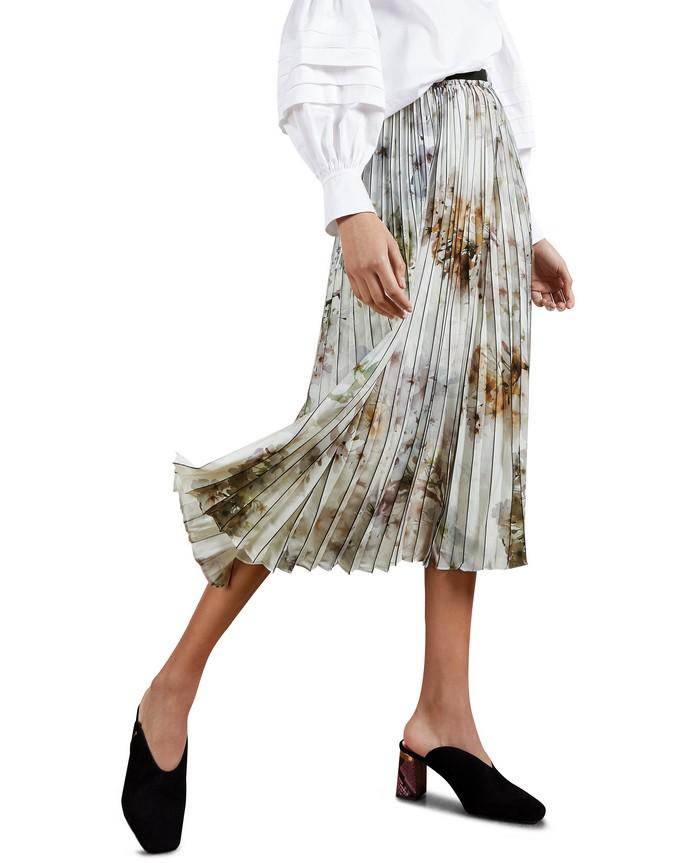 Printed πλισέ φούστα