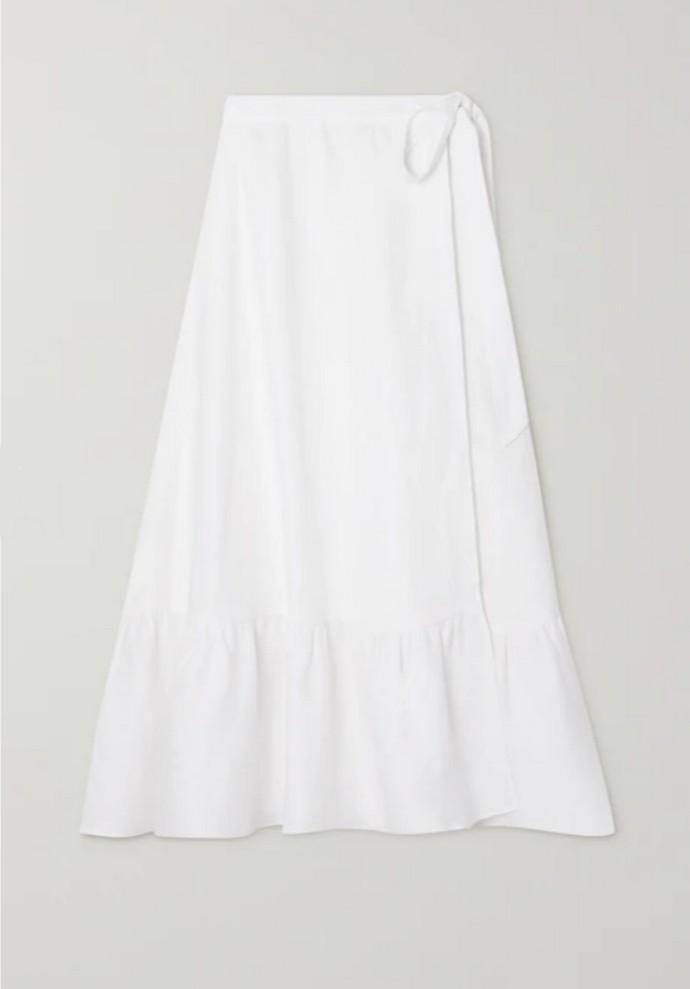 Κρουαζέ λινή φούστα