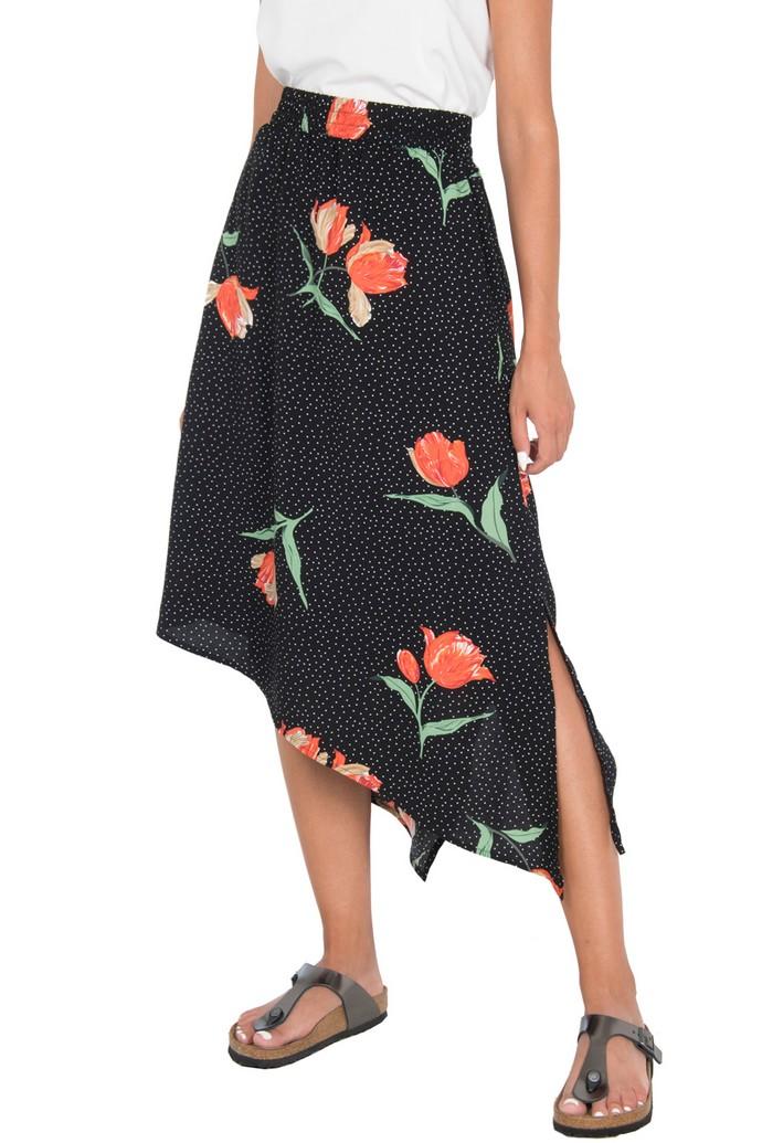 Ασύμμετρη φούστα με prints