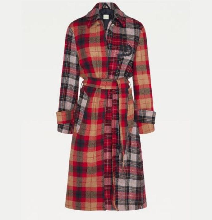 Καρό παλτό από κασμί