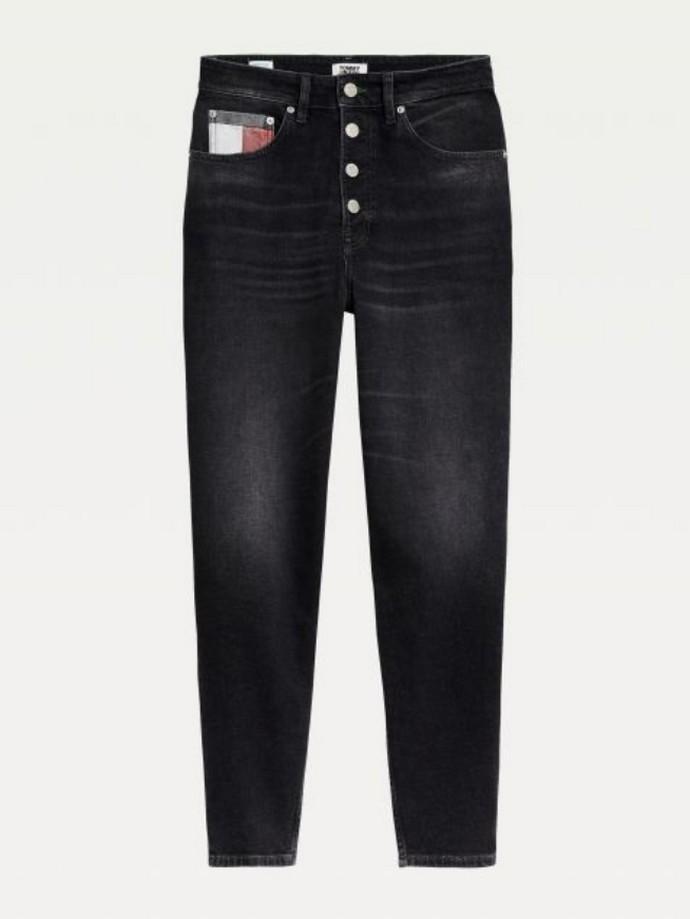 Ψηλόμεσο mom jeans με κουμπιά