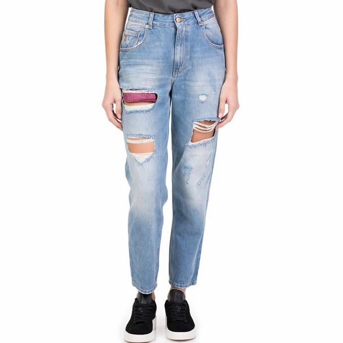 Ψηλόμεσο mom jeans με σκισίματα