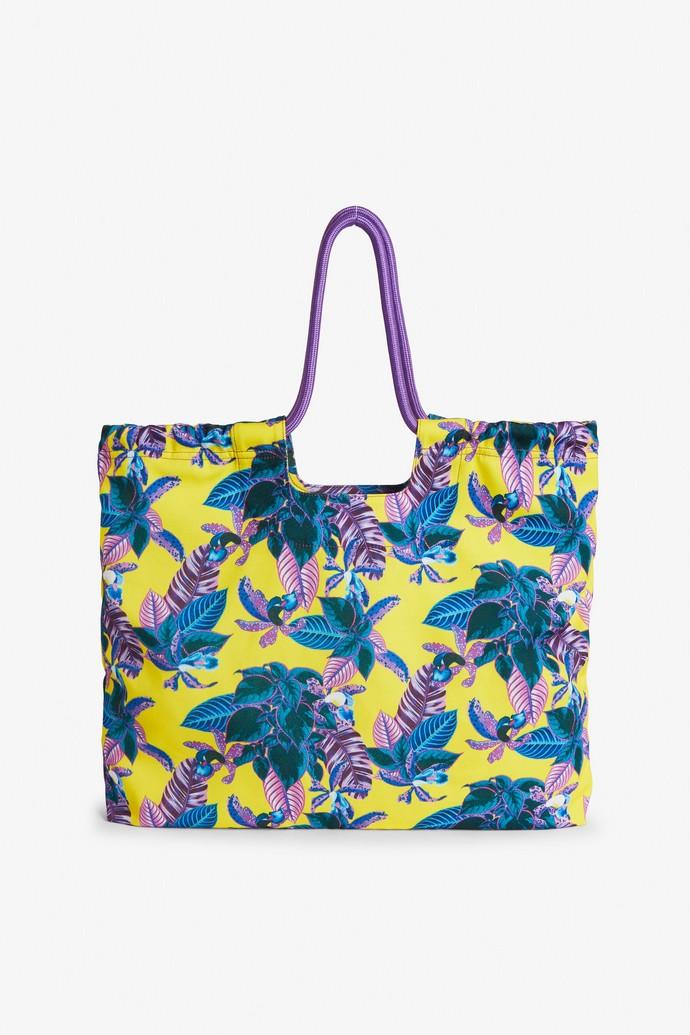 Tσάντα θαλάσσης με τρόπικαλ μοτίβο