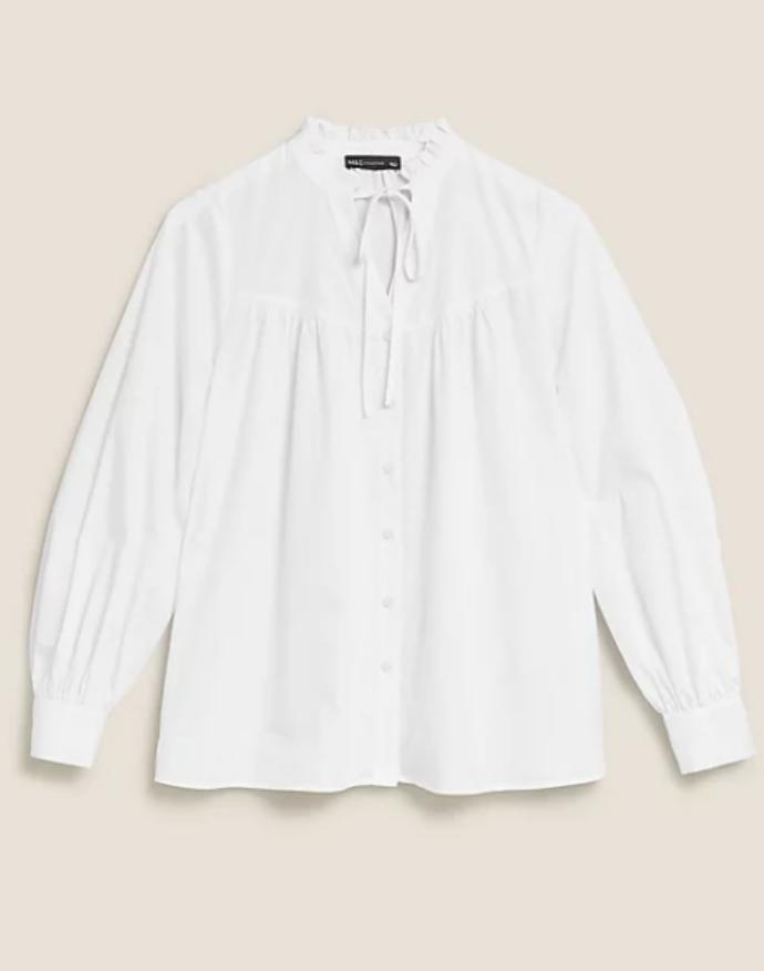 λευκό πουκάμισο με δέσιμο