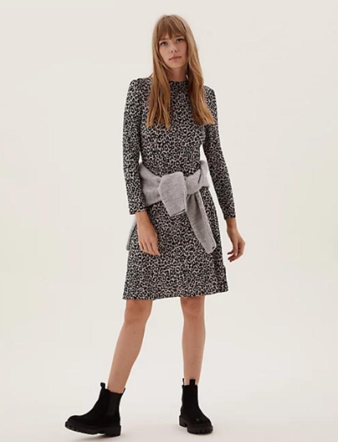midi φόρεμα με animal print