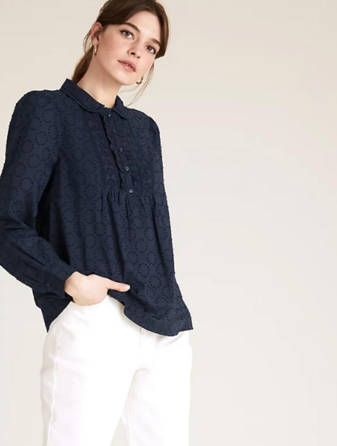 μπλούζα με ανάγλυφη υφή