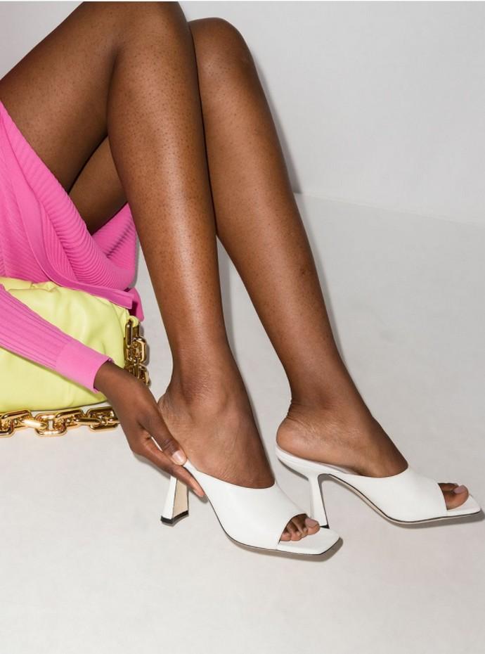 Μules με block heels