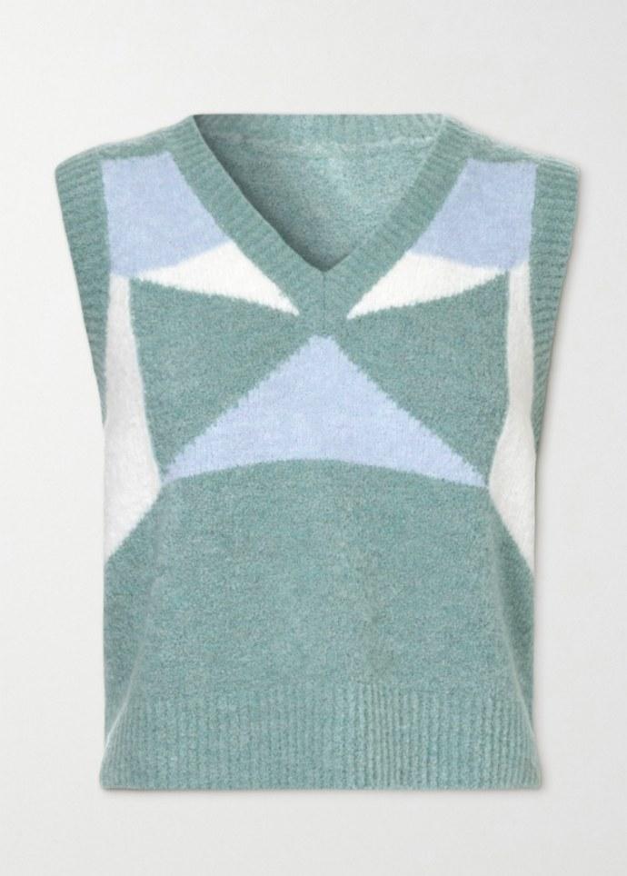 Αμάνικο πουλόβερ με V-neck