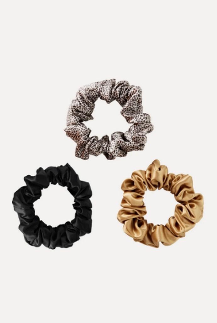 3 μεγάλα silk scrunchies