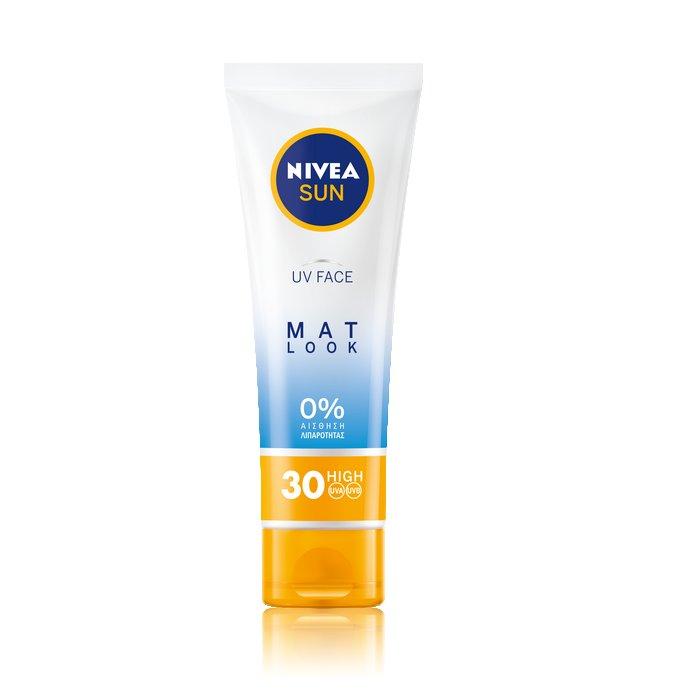 Nivea Sun UV Face Mat Look 0% αίσθηση Λιπαρότητας SPF30