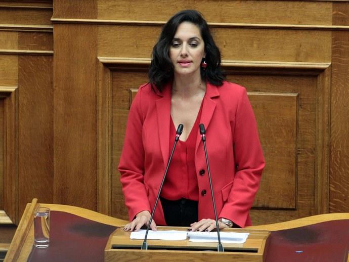 Η Νόνη Δούνια στη Βουλή
