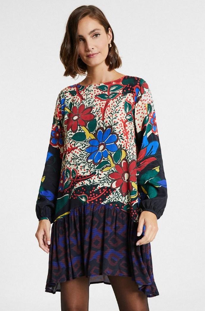 Φόρεμα mini φόρεμα με floral print