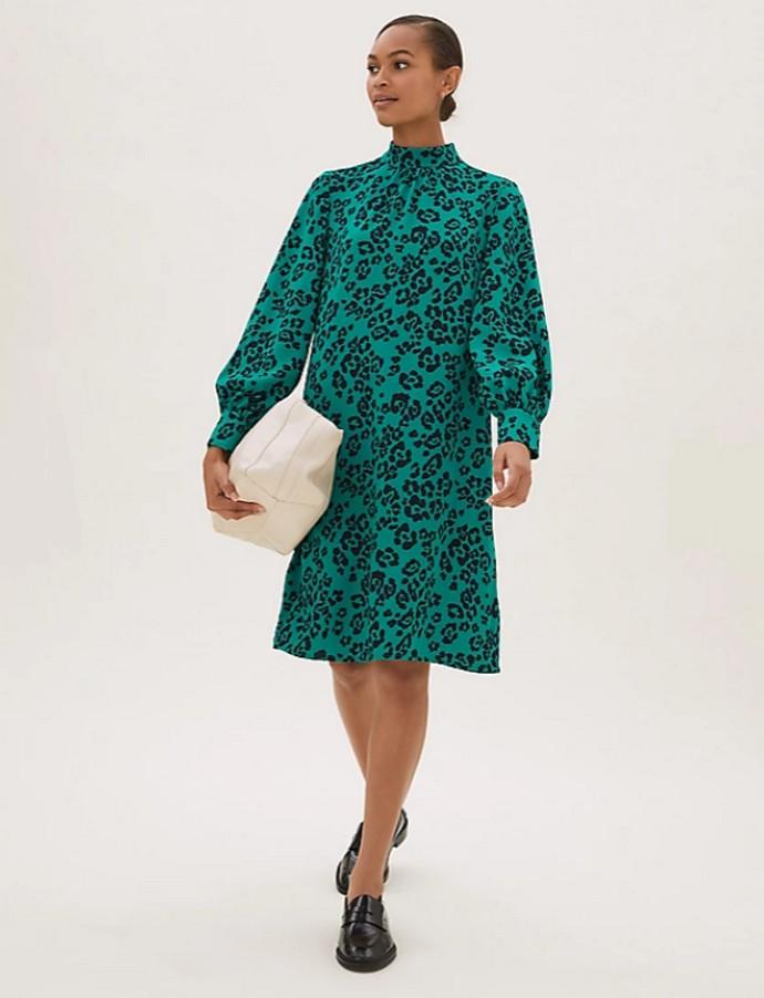 Φόρεμα με animal print