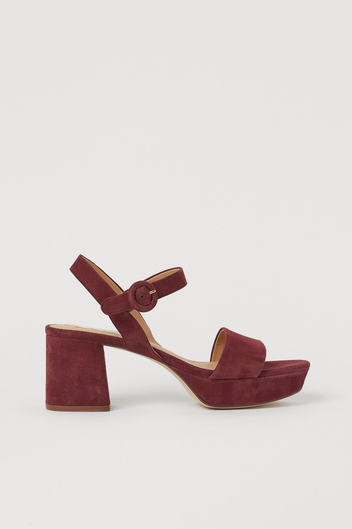 Σουέντ πλατφόρμες με block heels